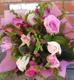Fragrant Roses Freesias from Flower Biz Christchurch